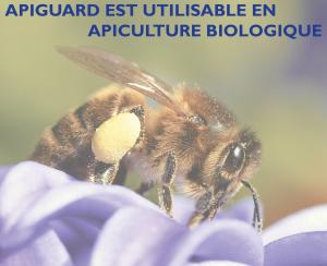 Apiguard est utilisable en apiculture biologique