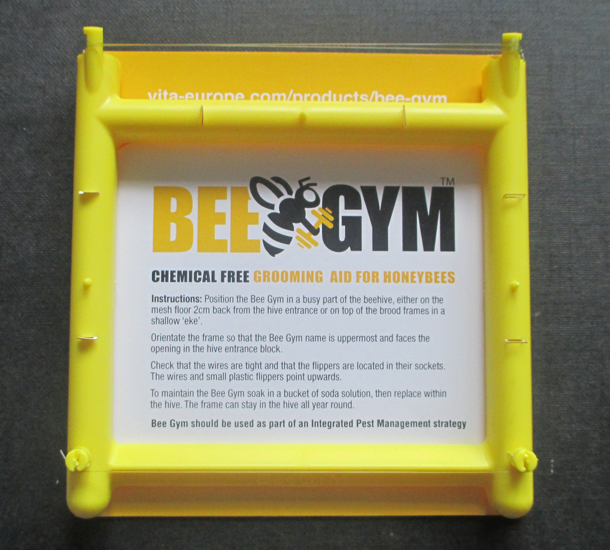 Bee Gym Mechanical Control of Varroa Mite