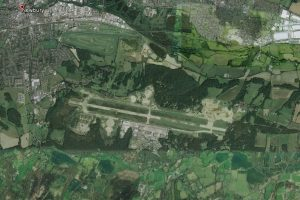Greenham Common (old airfield) as seen on Google Earth