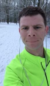 Sebastian's marathon training selfie